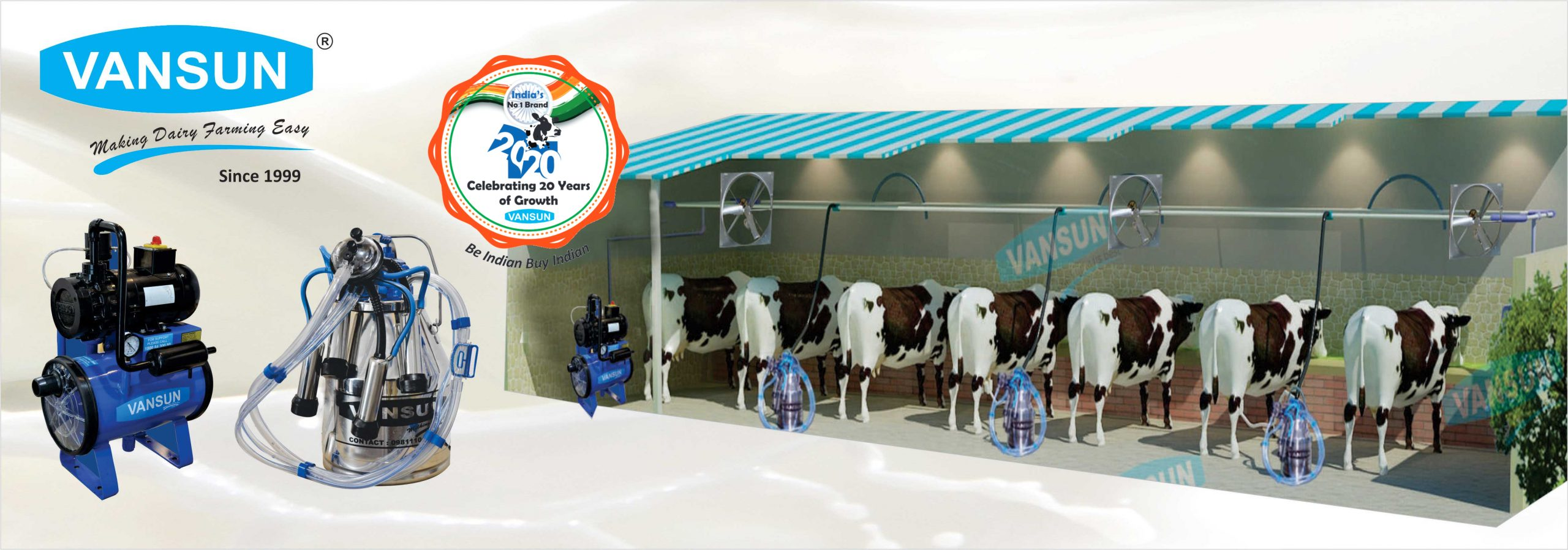 Bucket Milking Banner